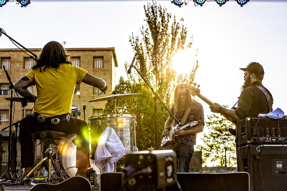 Guillermo, Jann y Mauro en el concierto de Segovia